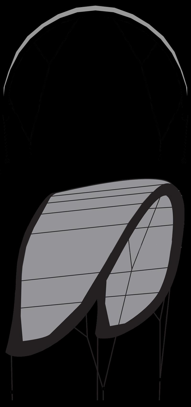 0 aile de kitesurf sans latte shape desi