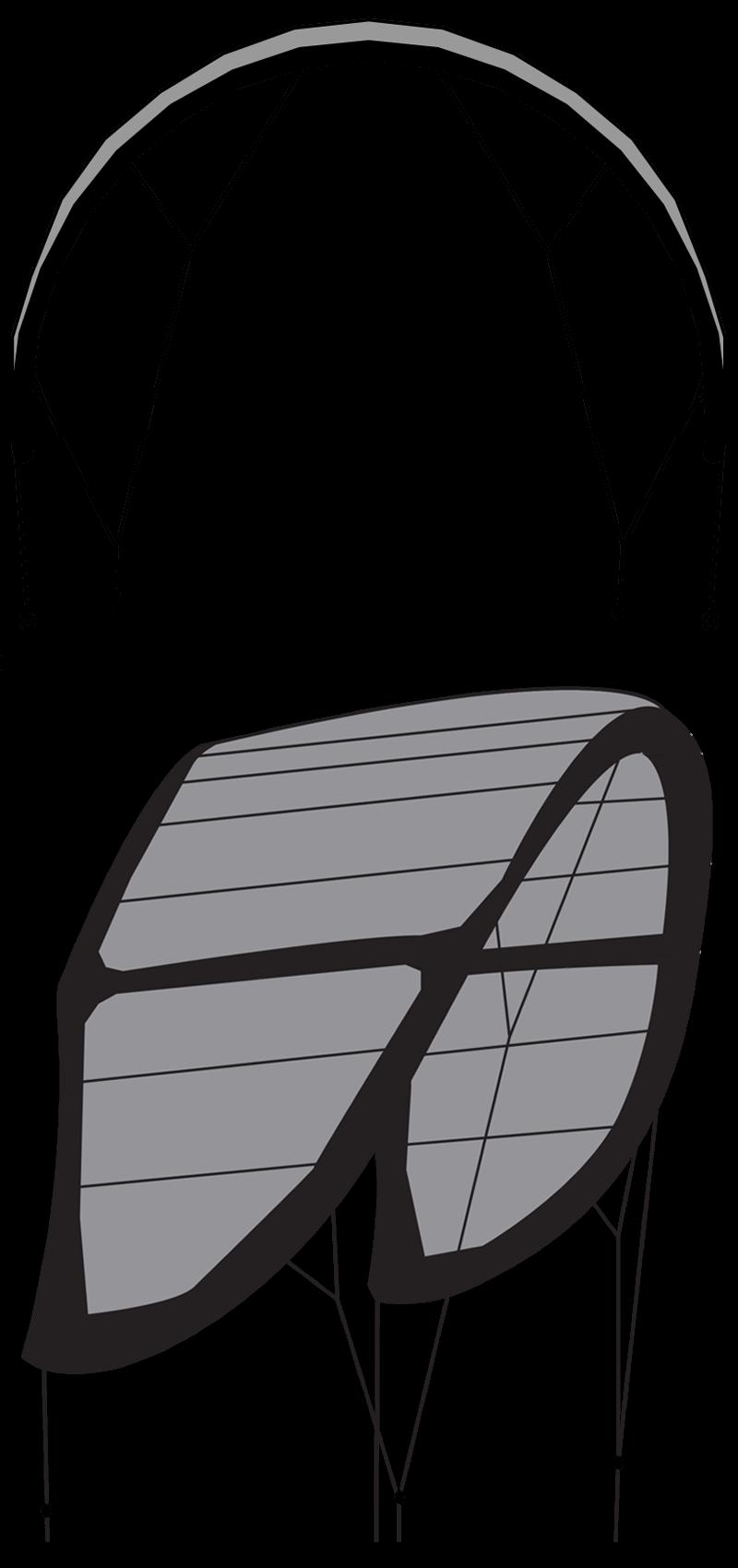 2 aile de kitesurf 2 lattes shape design